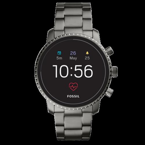 Fossil Q Explorist Gen 4 FTW4012 - Smartwatch - Grijs/RVS - Dames