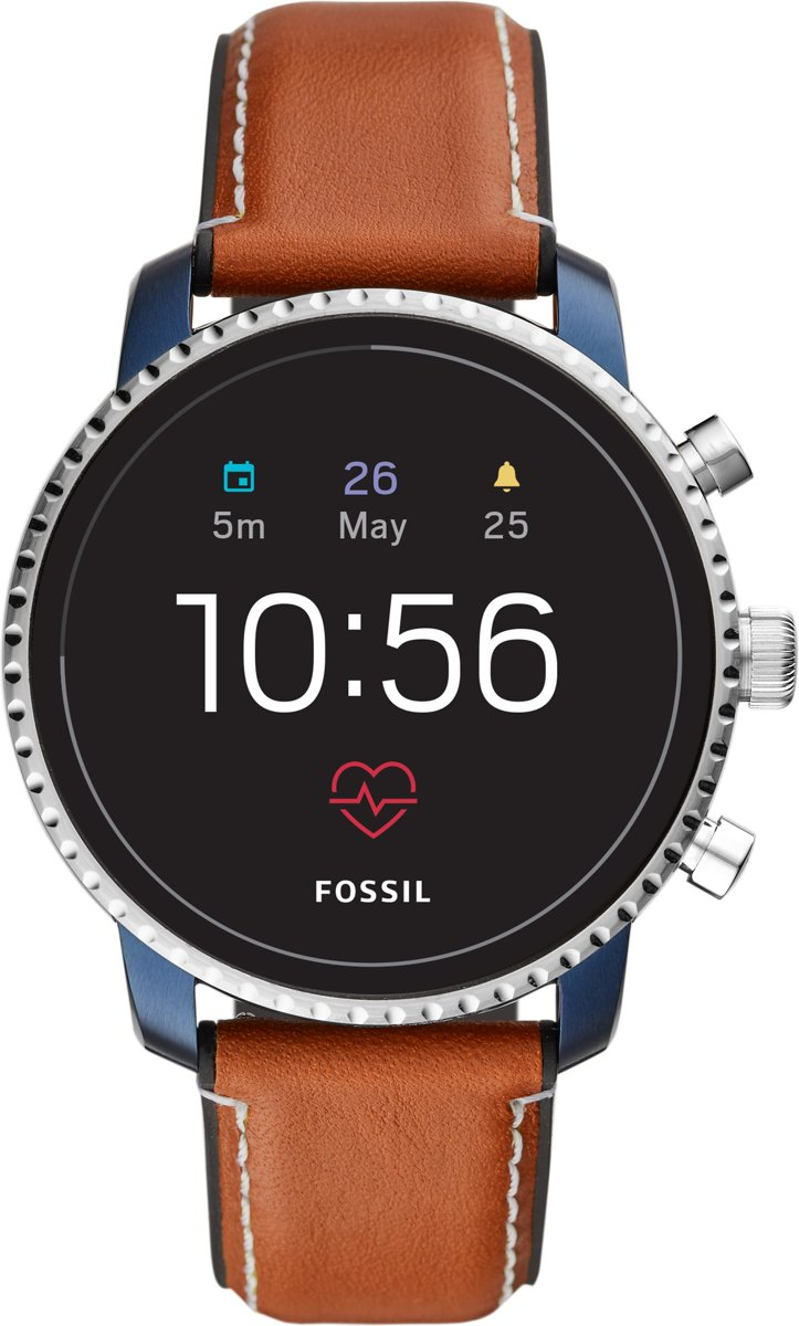 Fossil Q Explorist HR Blauw smartwatch Gen 4