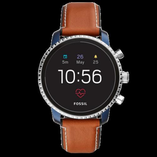 Fossil Q Explorist HR Blauw horloge dames smartwatch Gen 4