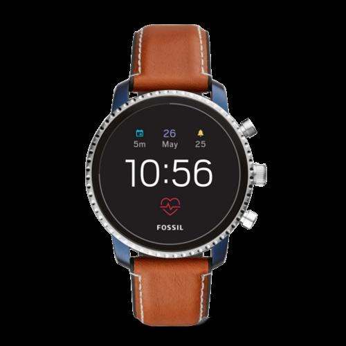 Fossil Q Explorist HR Blauw smartwatch Gen 4 - met Hartslagmeter