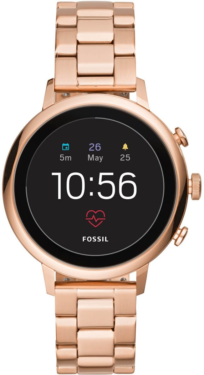Fossil Q Venture Gen 4 FTW6011 - Dames Smartwatch - Rose Goud