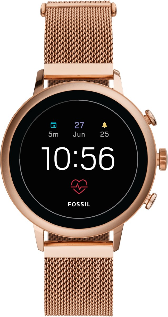 Fossil Smartwatch Venture Gen 4 Display Dames Smartwatch - Goudkleurig - 2019