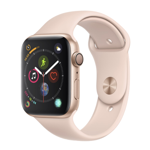 Apple Watch Series 4 - 40 mm - goud met roze bandje - Dames Smartwatch