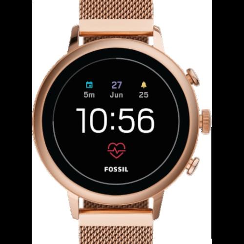 Fossil Q Venture Gen 4 - Dames Smartwatch - goud