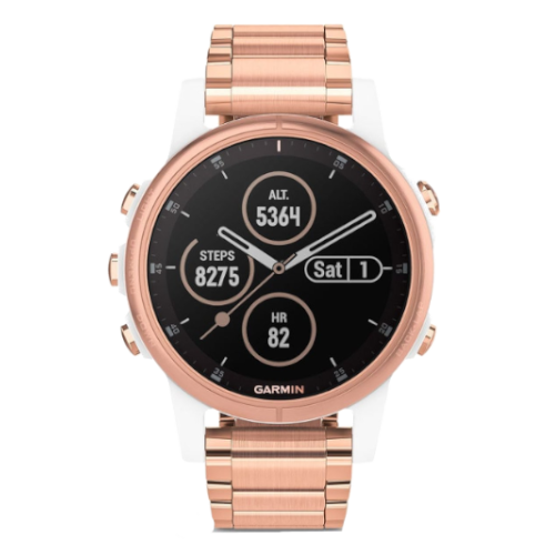 Garmin Fenix 5S Plus - Multisporthorloge - GPS - Roségoud - 42mm