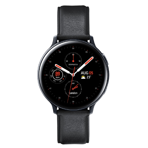 Samsung Galaxy Watch Active2 - Stainless steel - 44mm - Zwart