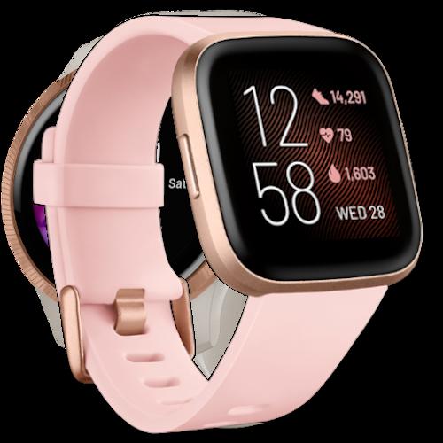 Fitbit Versa 2 - Smartwatch - Roze goud - Dames Smartwatch