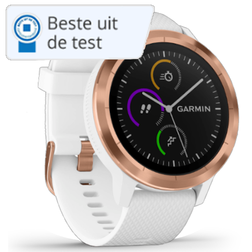 Garmin Vivoactive Smartwatch - Wit - Rose Goud